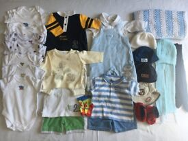 Baby Boys Bundle of Clothes Size 0 to 3 Months 30 pieces