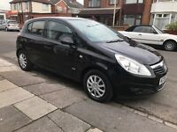 Vauxhall corsa 5 door 1.2 black long mot service just done hpi clear! Cheap tax and insurance!