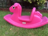 Little Tikes Pink Rocking Horse - Good used condition