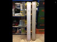 2 X 110V YELLOW TWIN WORK LIGHTS BRAND NEW