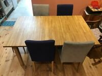 Four Henriksdal (dining-table) chairs (x4)