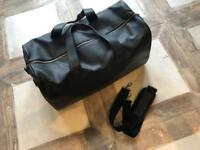 Brand new M&S Black leather travel bag