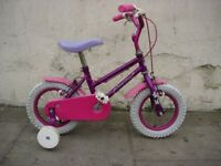 Kids Bike with Fairy Dust, 8 inch wheels Are Great For 1 1/2 Years Olds, JUST SERVICED/ CHEAP PRICE!