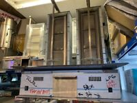 NEW MODEL TWIN TANK DONER KEBAB SHAWARMA GRILL MACHINE FAST FOOD CATERING COMMERCIAL KITCHEN