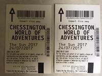 Pair of Chessington tickets 24 July 2017