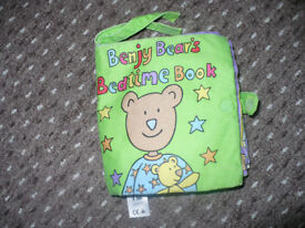 Bundle of 4 cloth soft books/ buggy toys. Very good condition.