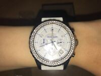 NEW! Michael Kors Ladies Watch MK5389 With White Dial And White Rubber Strap