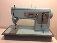 Retro Singer Sewing Machine Model 348 Baby Blue