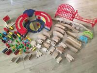 Wooden train track bundle