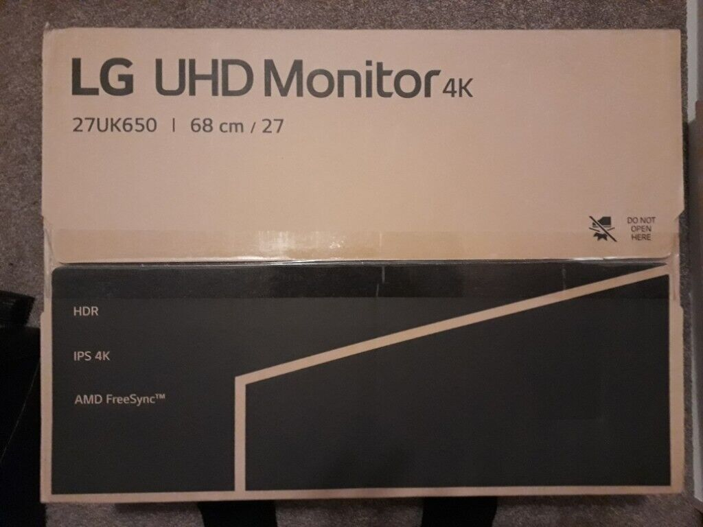 LG 27UK650 27 inch 4K UHD HDR 10 IPS Monitor | in Barton on Sea, Hampshire  | Gumtree