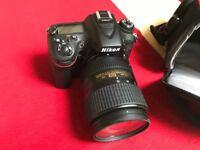 Nikon D7100 DSLR 24MP + Nikon 18-300mm F3.4-5.63 DX VR lens + Manfrotto Tripod + Kit Bag + SD Card
