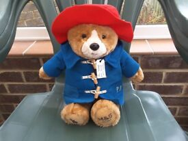 Paddington Bear Plush Soft Toy. M & S. Brand new with tags. Collectable.
