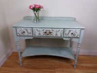 Beautifully Upcycled Vintage Console Table Dressing Table Desk Dresser