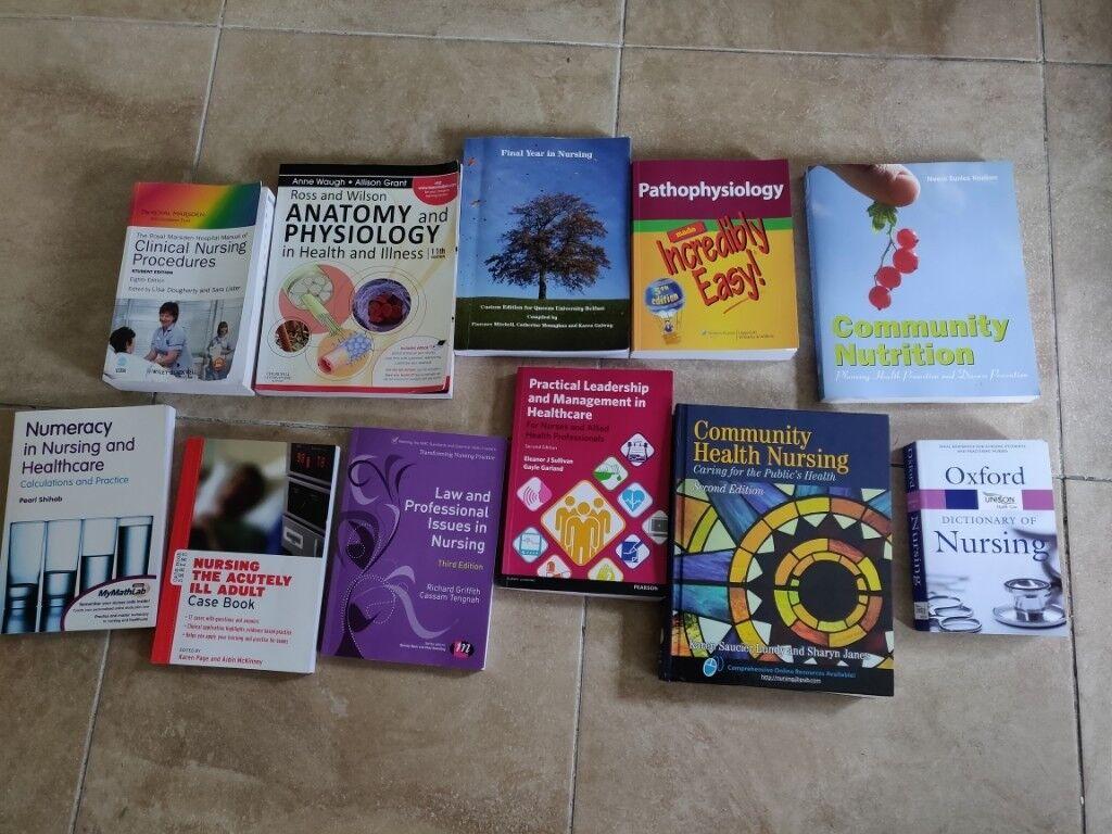 11 Nurse Nursing books/1st 2nd 3rd year Queens QUB,Law