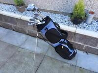 Golf clubs. Full set of irons, driver 3 wood 5 wood putter & golf bag