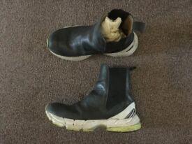 Puma x Pringle of Scotland black leather sock style trainers stylish UK7 EU 40 RPP£200