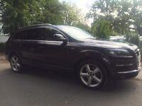 2008 Audi Q7 S line TIPTRONIC QUATTRO S LINE 5d AUTO 240 BHP 5-Door - Black