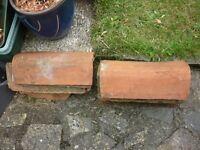 Old clay ridge tiles