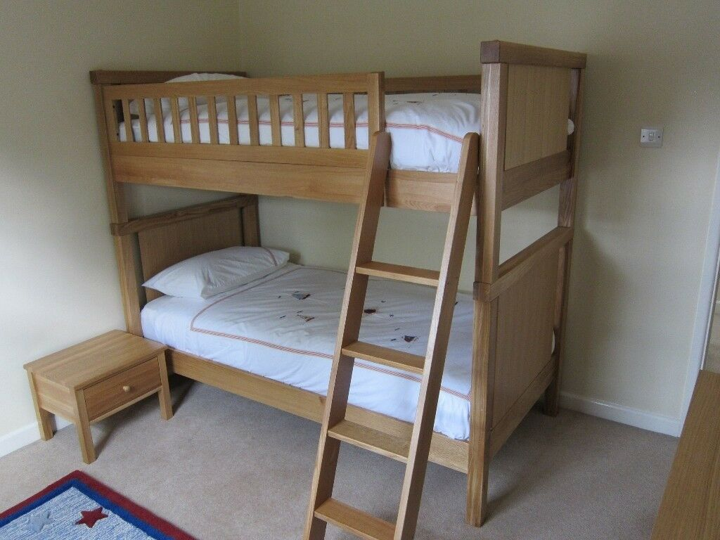 Aspace Oak Bunk Beds Bedside Table And Book Case In Thames Ditton