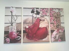 Beautiful geisha canvas