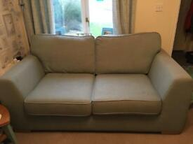 DFS large 2 seater sofa bed in mint