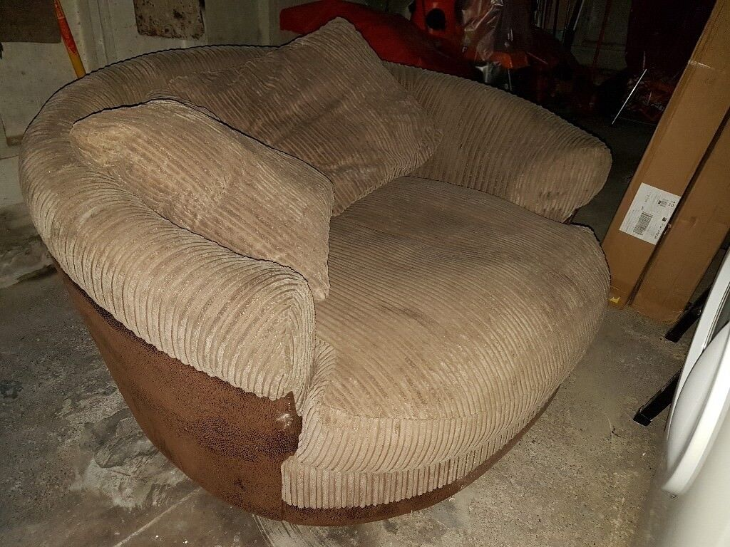 Round Spinning Sofa Chair Fits 2