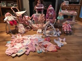 Bundle of Baby Annabell clothes and accessories