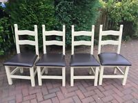Solid Heavy Wood Dining Chairs(4 off)