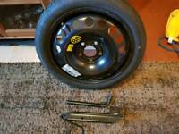 Vauxall 5 stud spare wheel and tyre