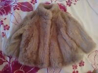 Beautiful Fake Fur Jacket in Mink colour, age 12-18months - excellent condition