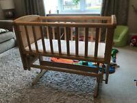 Glider Crib and Mattress