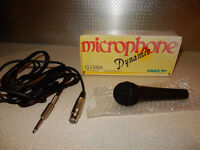 BRAND NEW. Eagle G158A Microphone and 4.5 m and 6.35mm Male Mono Jack to Female XLR lead. Amp lead.
