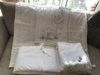 Cot set consisting of Bumper, Duvet and Blanket
