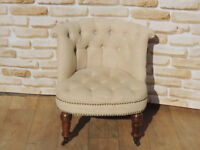 Off white stylish bedroom chair (Delivery)
