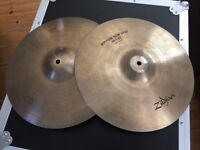 "Zildjian Avedis 14"" New Beat Hi-Hats - Vintage 1970s Made in USA"