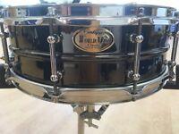 WORLDMAX Vintage series Black Chrome over Brass Snare drum 14x5