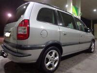 53 reg top spec 7 seater vauxhall zafira 2.0dti diesel+service history+mot+tax with towbar DRIVEAWAY