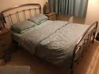 NEXT King Size Brass Bed with Matress