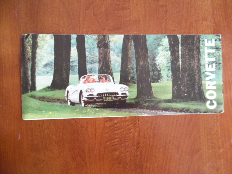 1960 Chevrolet Corvette Foldout Brochure Vintage Original