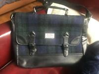 Harris Tweed 'BlackWatch Tartan' Messenger/Work Bag