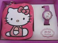 Girls Flik Flak (Swiss Made) Hello Kitty Watch ZFLN034 with Coin Purse Set