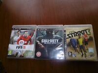 playstation 3 games fifa11,black ops,street3
