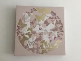 Small canvas butterfly wall decor