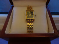 Beautiful Ladies gold electroplated Klaus Kolbec watch.
