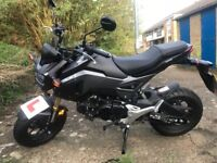 Handa MSX 125. 2017. Good as new condition low miles, Grey and Matt Black