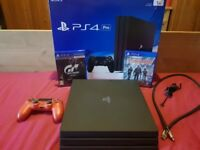 Playstation Pro 1tb & 2 games plus extras