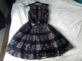 Beautiful Midnight Blue Prom Dress size 12