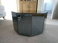 Mirror coffee table, art deco style smoked mirror. This is 33cm high. Some slight scratches on top.