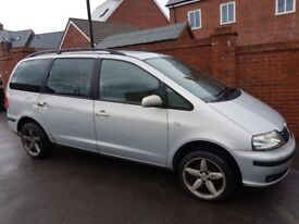 Seat served me vwell for 6 years. Very powerfull reliable car. 7 seats. Air con. Alloy. No Mot