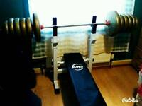Bench with about 80kg weight
